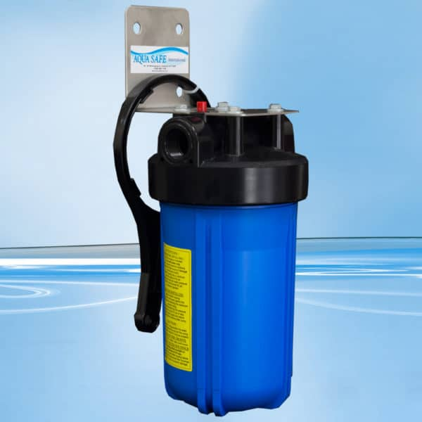 """AquaSafe AS355 10"""" Big Blue Single Sediment Whole of House Filtration System-763"""