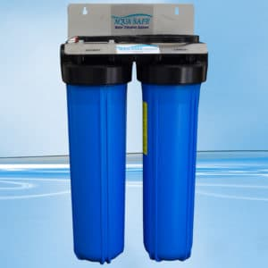 "AquaSafe AS405 20"" Big Blue Twin Whole of House Filtration System-0"